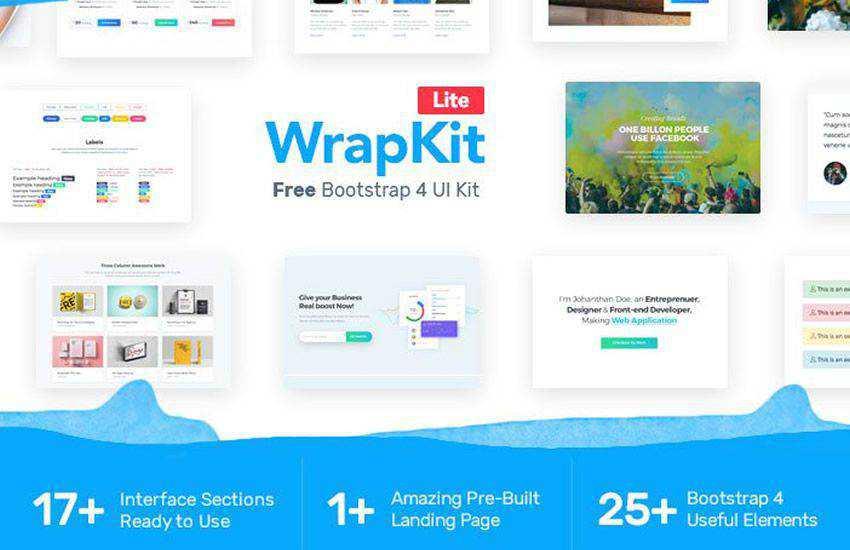 Wrappixel boostrap 4 four template ui kit free