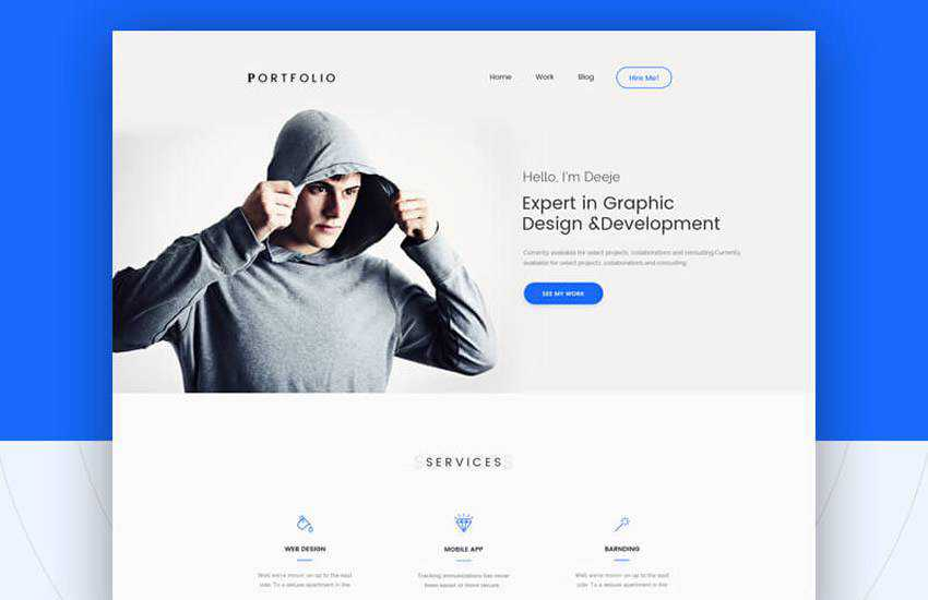 10 Free Personal Portfolio Photoshop Psd Web Templates For 2020