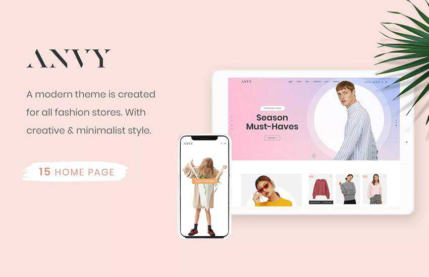 Anvy Clean Minimal Shop web design layout adobe photoshop template free psd format