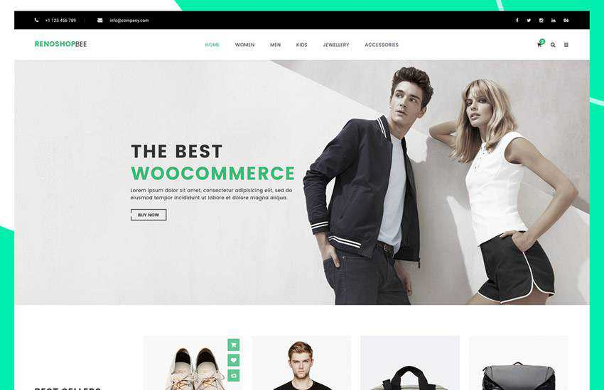 Roneshopbee eCommerce web design layout adobe photoshop template free psd format