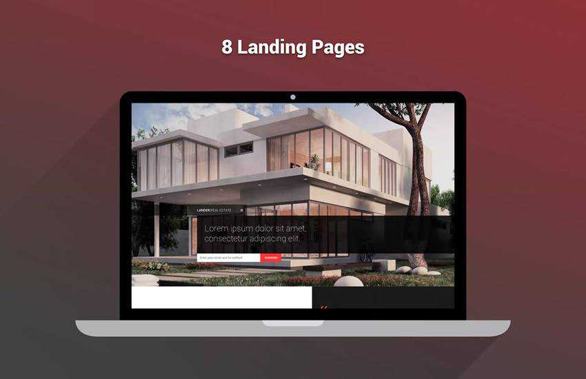 Lander Multipurpose Landing Page web design layout adobe photoshop template free psd format