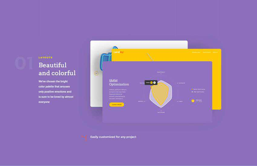 Landing Page web design layout adobe photoshop template free psd format