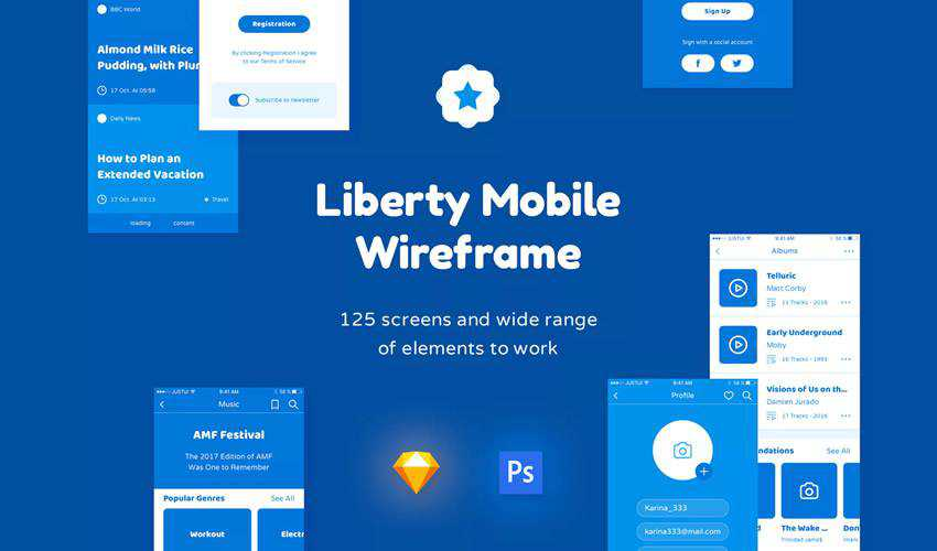Liberty Wireframe sketch mobile app ui kit sketch ux format design creative sketch.app