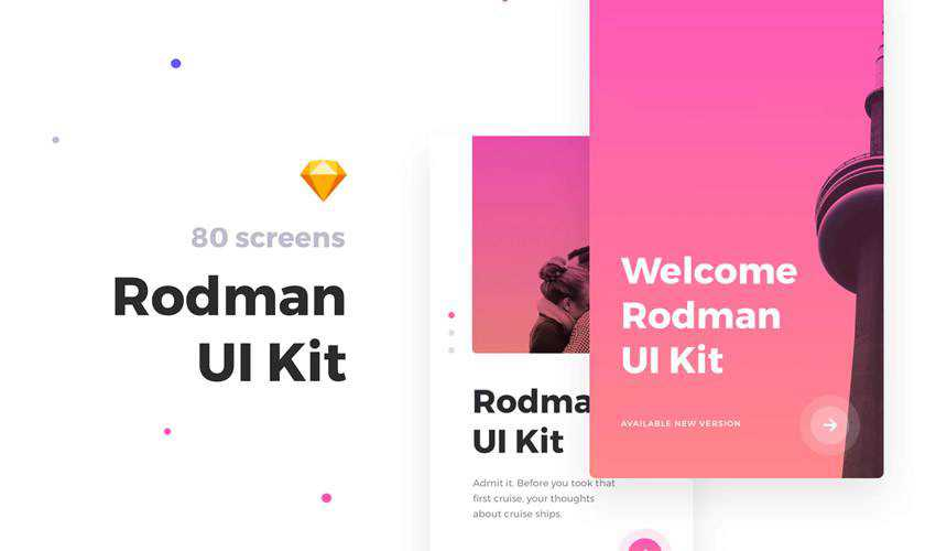 rodman sketch mobile app ui kit sketch ux format design creative sketch.app