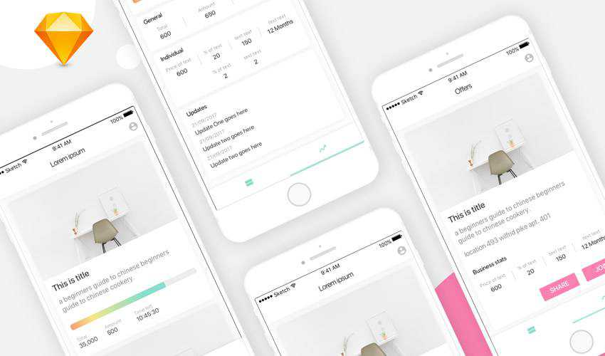 Bizwatcher sketch mobile app ui kit sketch ux format free design creative sketch.app