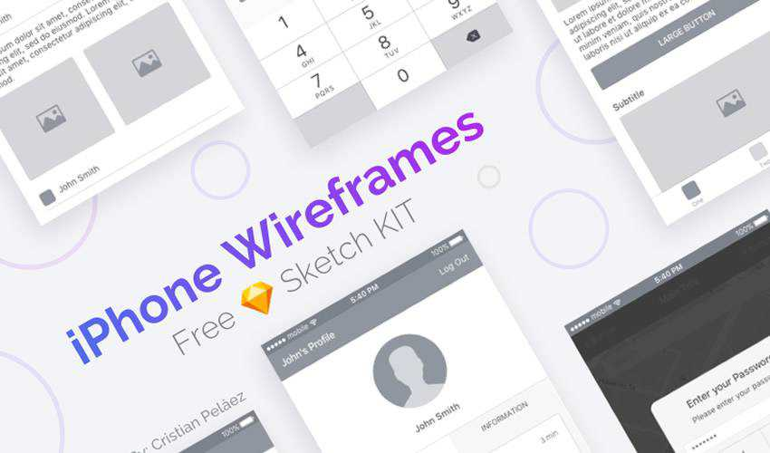 iPhone Wireframe ios sketch mobile app ui kit sketch ux format free design creative sketch.app