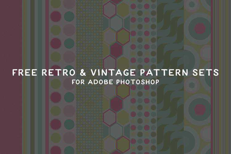 20 Free Retro & Vintage Pattern Sets for Photoshop