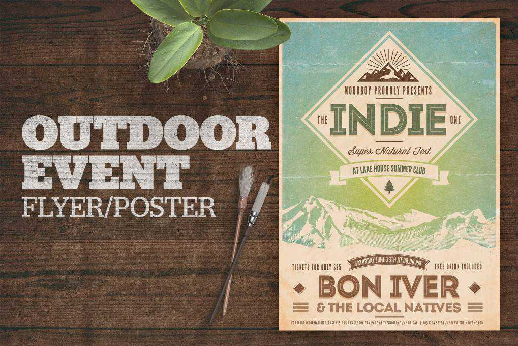 Outdoor Event poster mockup template format Adobe Photoshop