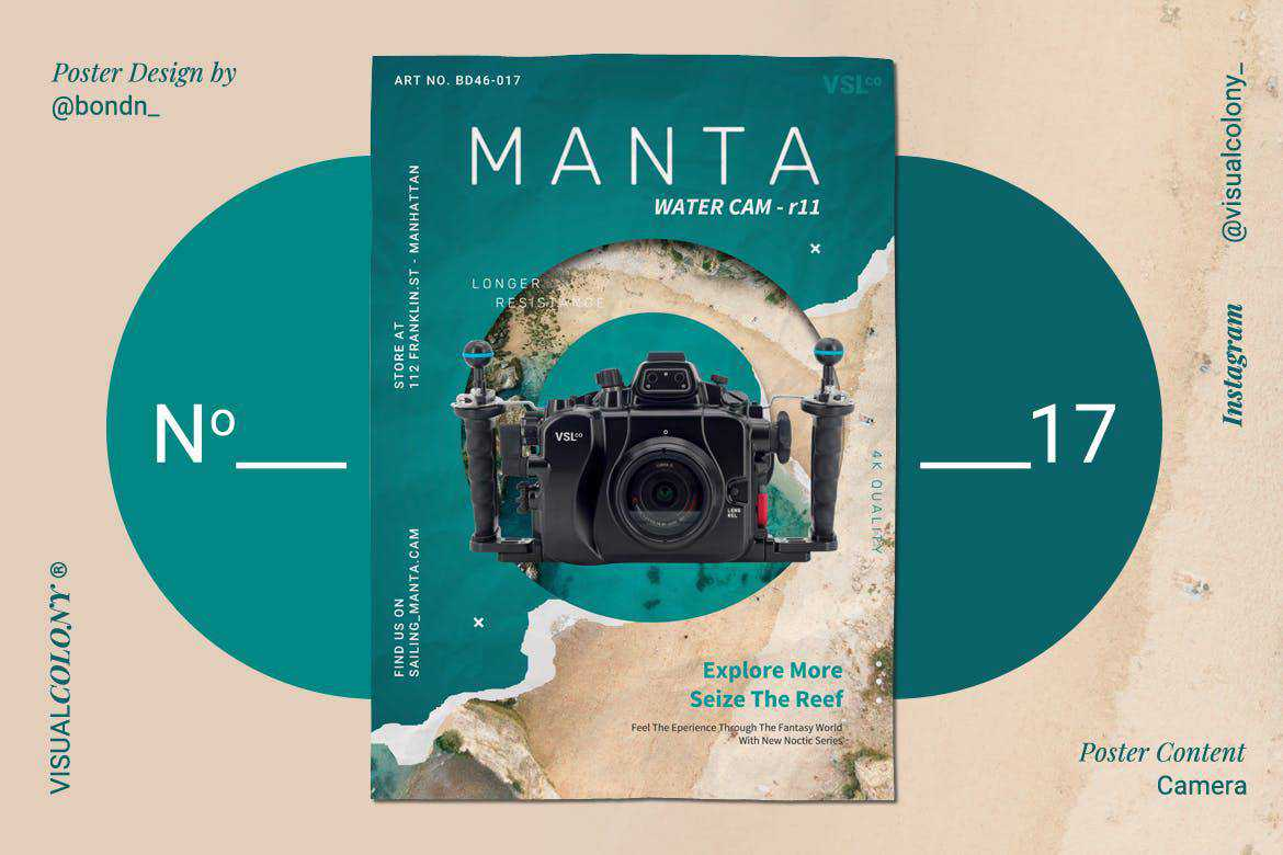 Photography poster mockup template format Adobe Photoshop