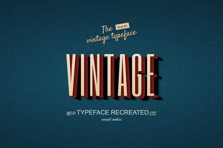 10 Amazing CSS & HTML Retro Type Effects