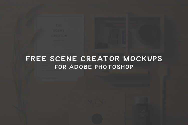 15 Free Hero & Scene Creator Mockup Templates for Photoshop