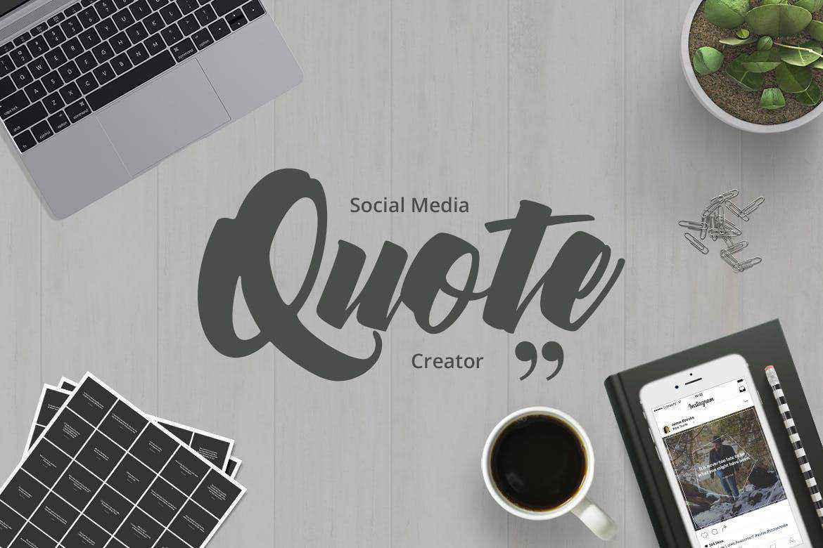 Quote Creator social media template pack format Adobe Photoshop