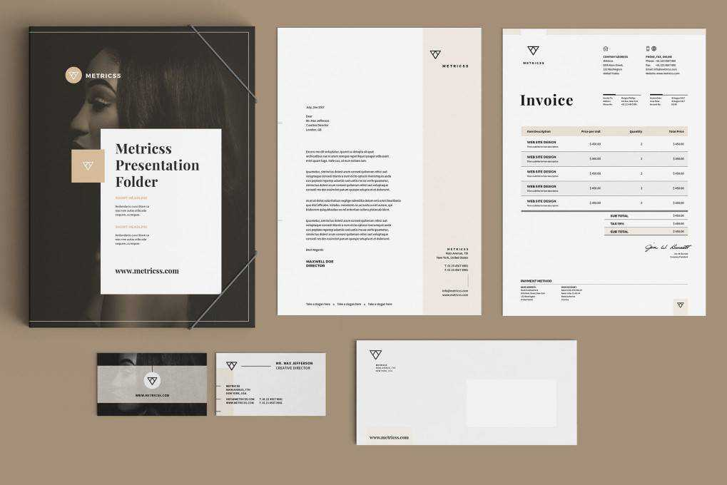 Minimal Professional corporate stationery business template format