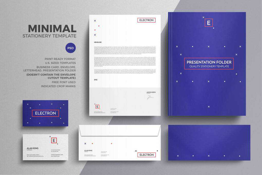 Minimal corporate stationery business template format
