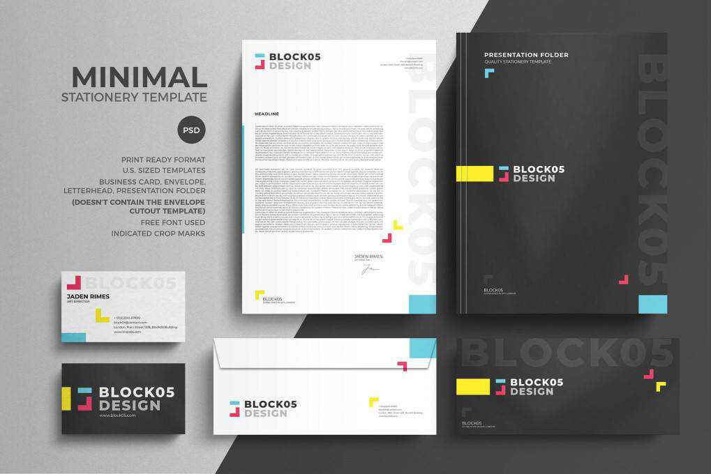 Minimal Corporate Stationery corporate stationery business template format