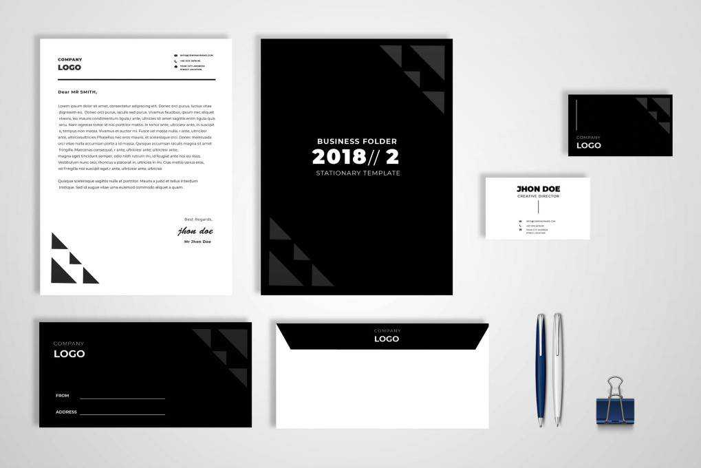 modern corporate stationery business template format