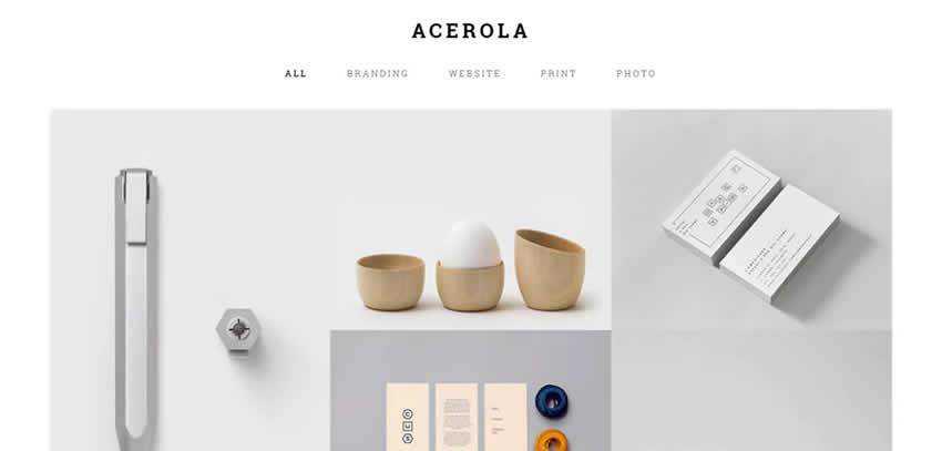 Acerola Agency ultra-minimal minimal creative template web design inspiration