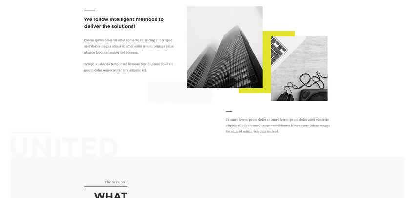 United ultra-minimal minimal creative template web design inspiration