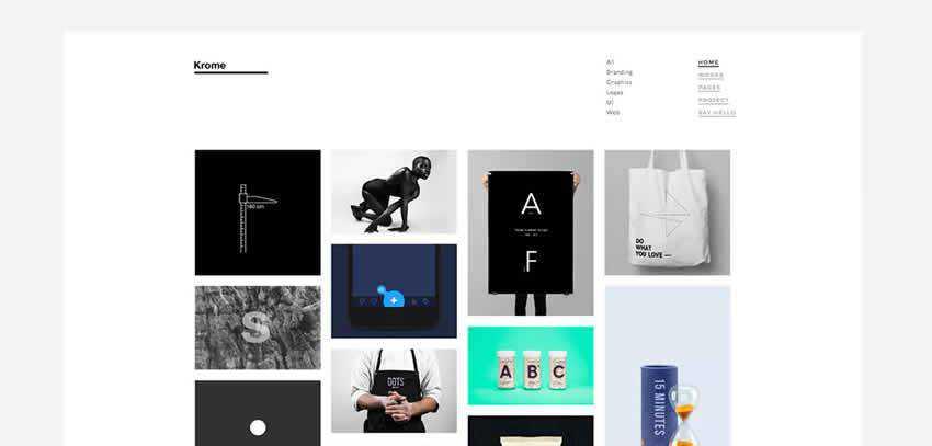 Krome Portfolio ultra-minimal minimal creative template web design inspiration