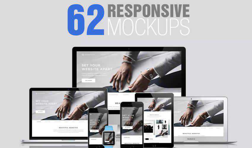 website responsive mockup template web design edit ps photoshop