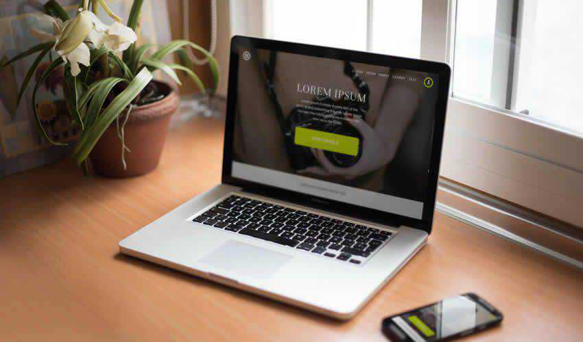 Smartphone Notebook website responsive mockup template web design edit ps photoshop free