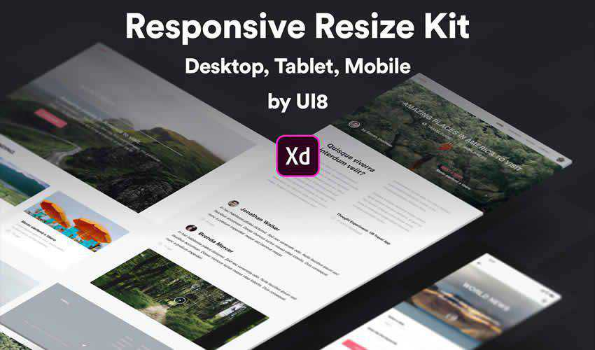 Resize Kit Adobe XD website responsive mockup template web design edit free