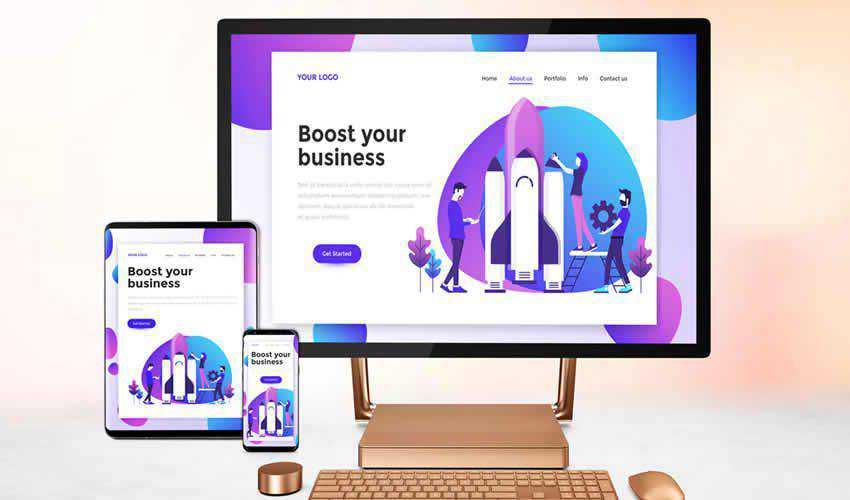 screens website responsive mockup template web design edit ps photoshop