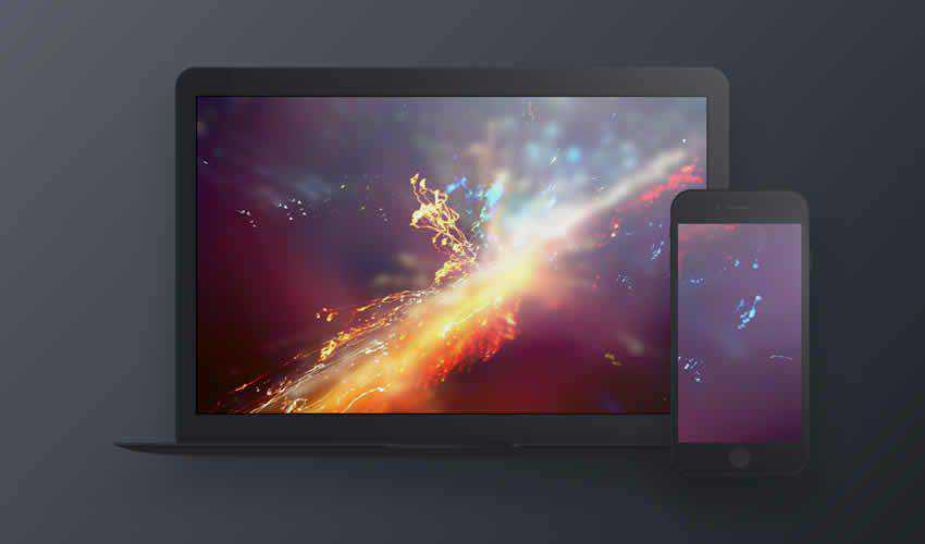 Dark Devices website responsive mockup template web design edit sketch sketch.app free