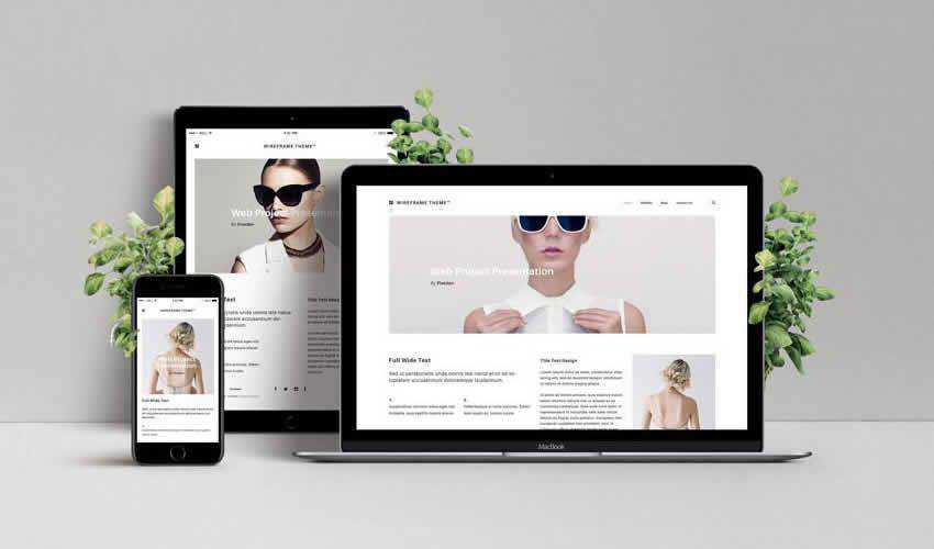 showcase website responsive mockup template web design edit ps photoshop free