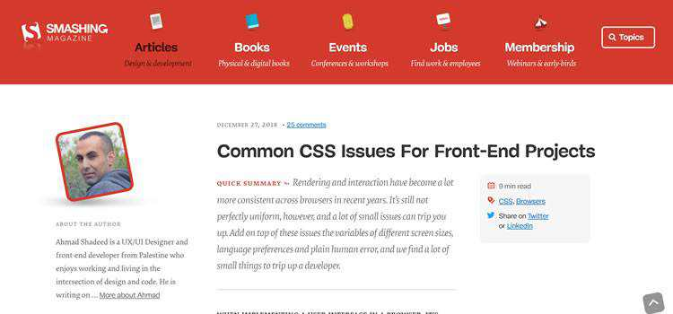 Common CSS Issues For Front-End Projects