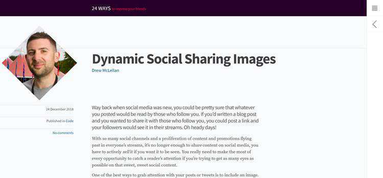 Dynamic Social Sharing Images