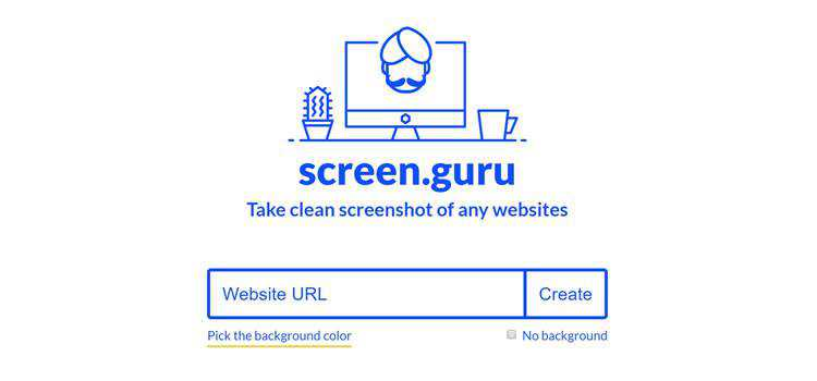 small web-based app for taking clean screenshots of any website