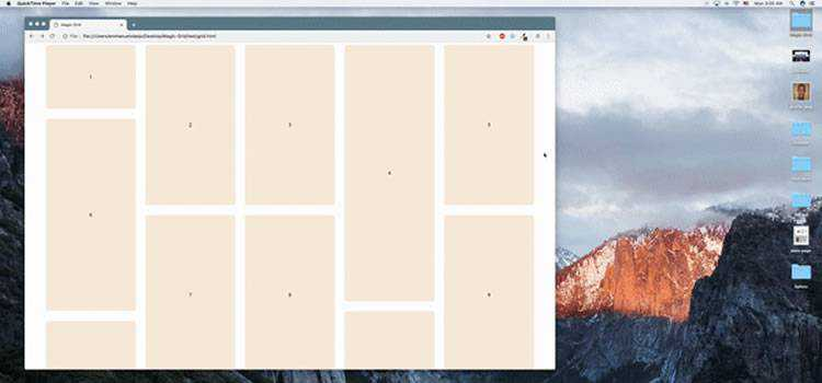 simple lightweight Javascript library for dynamic grid layouts