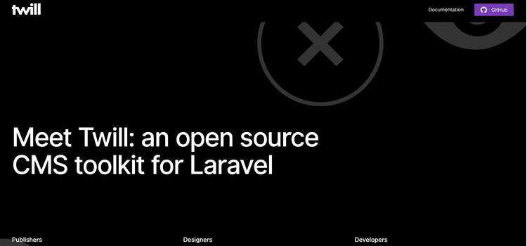 Twill new open-source CMS toolkit for Laravel