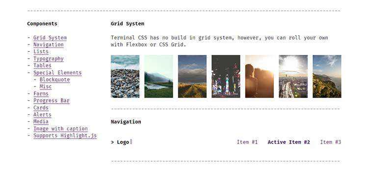Terminal CSS