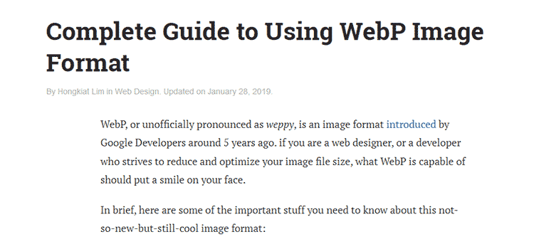 Complete Guide to Using WebP Image Format