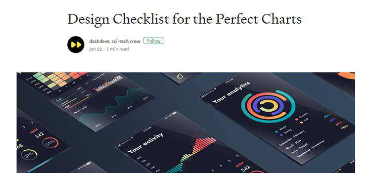 Design Checklist for the Perfect Charts