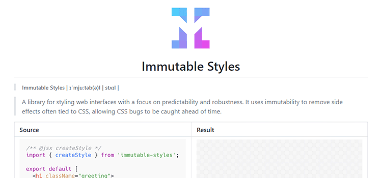 Immutable Styles
