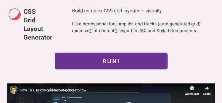 CSS Grid Layout Generator