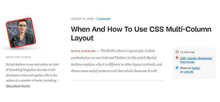 When And How To Use CSS Multi-Column Layout