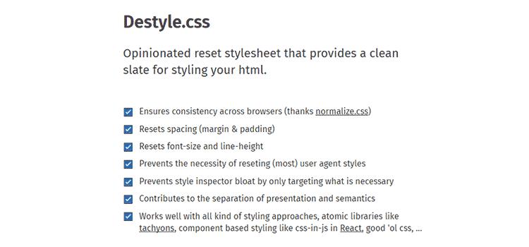 Destyle.css