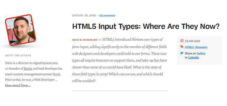 HTML5 Input Types: Where Are They Now?