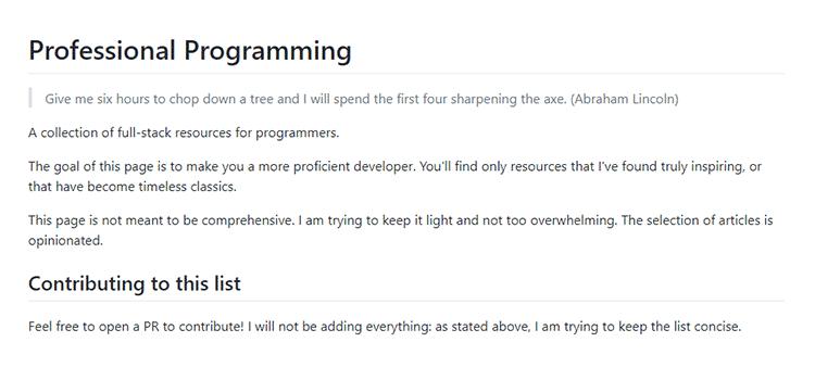 Professional Programming