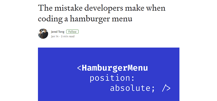 The mistake developers make when coding a hamburger menu