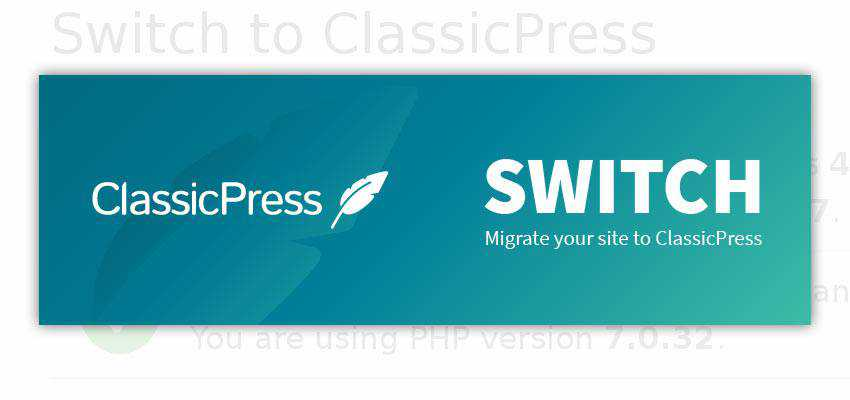 ClassicPress Switch Plugin Banner