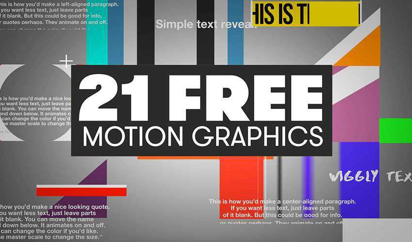 30 Free Motion Graphic Templates for Adobe Premiere Pro