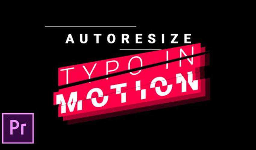 Titles and Lower Thirds Autoresizing Typo in Motion