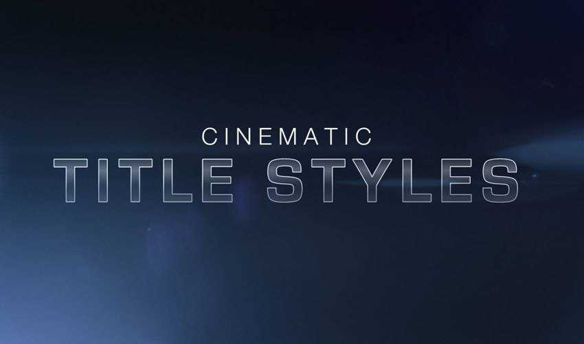 Cinematic Title Style Library for Premiere Pro Free