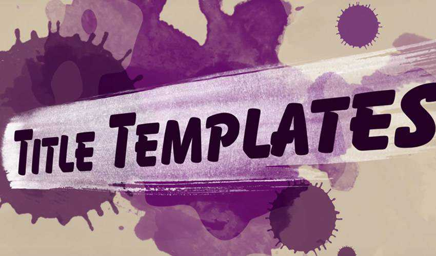 Painted Titles Templates for Premiere Free