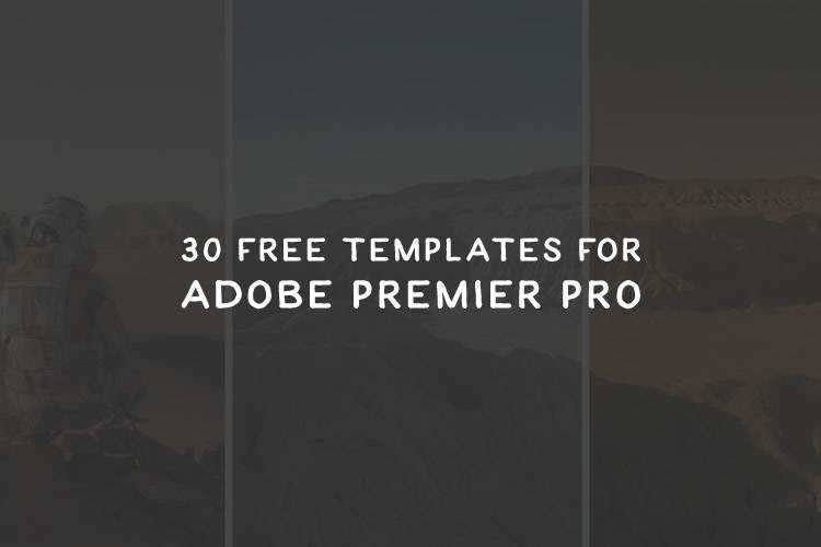 30 Free Motion Graphic Templates for Adobe Premier Pro